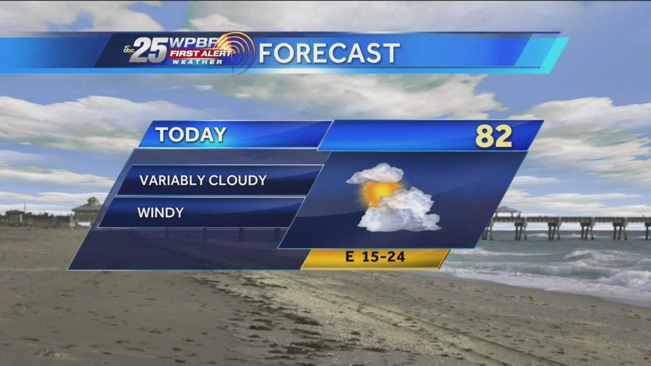 Sandra says more cloudy and windy conditions are on tap around town Wednesday.