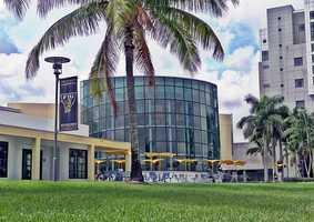 4. Florida International University (enrollment 44,616) - Nine violent crimes, 426 property crimes for a total of 435 offenses
