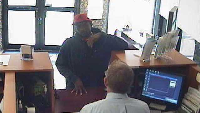 Police say this man robbed the Florida Community Bank branch on Palm Beach Lakes Boulevard in West Palm Beach.