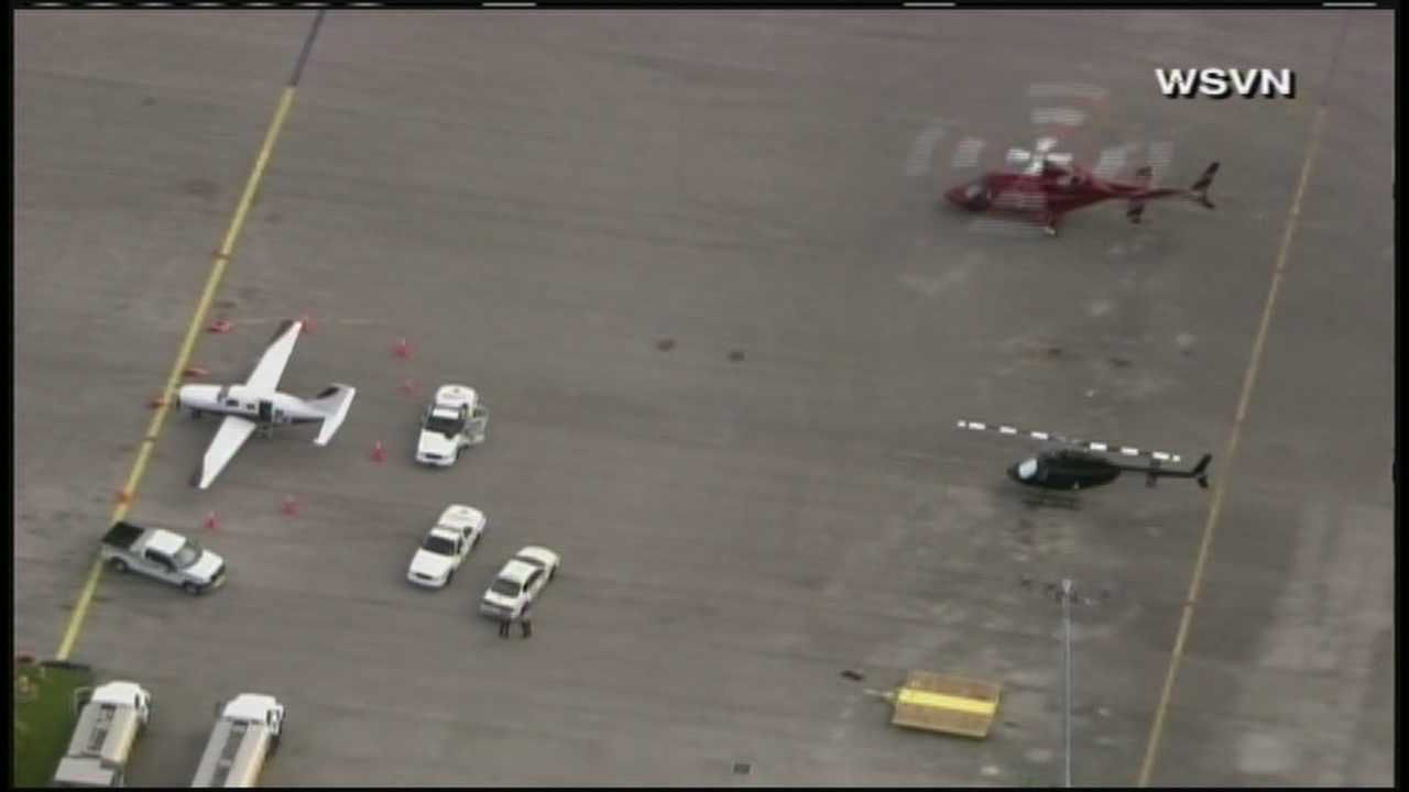 A passenger fell out of this small plane that landed at Tamiami Executive Airport.