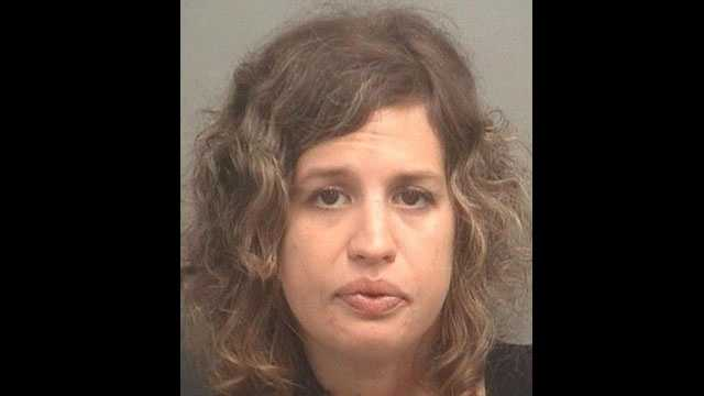 Stephanie Haines is accused of trying to steal $750 worth of faucets from a Home Depot in Delray Beach.
