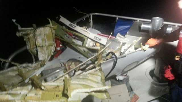 This is some of the plane debris that was found after a Learjet crashed into the water shortly after taking off from Fort Lauderdale-Hollywood International Airport.