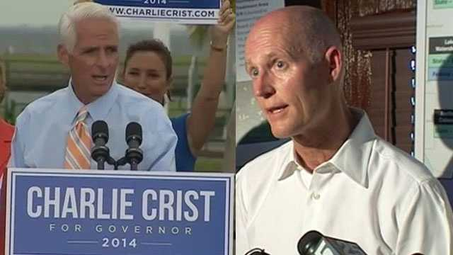 A Quinnipiac University poll shows that Republican-turned-Democrat Charlie Crist is favored over current Gov. Rick Scott.