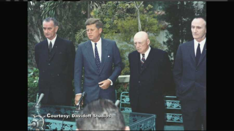 JFK introduced his Cabinet on the steps outside his Palm Beach estate.