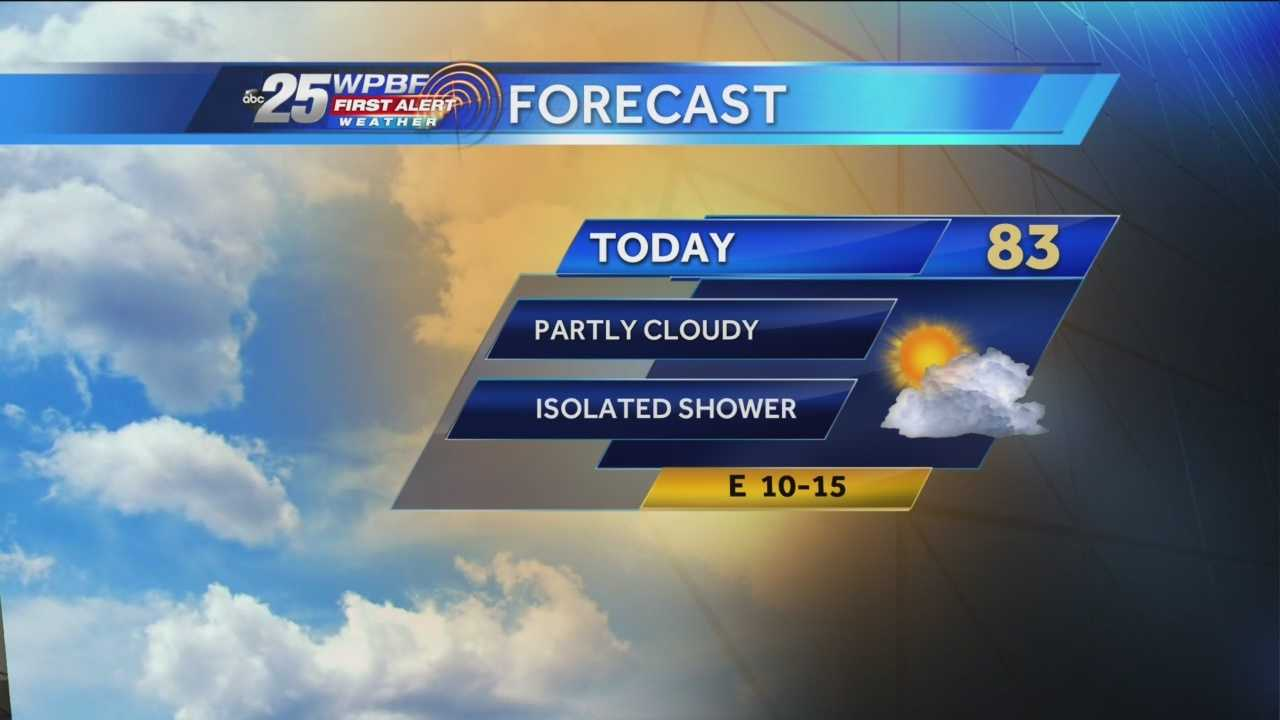 Justin says warm weather is on tap around town Saturday, as is the chance for a light sprinkle here or there.