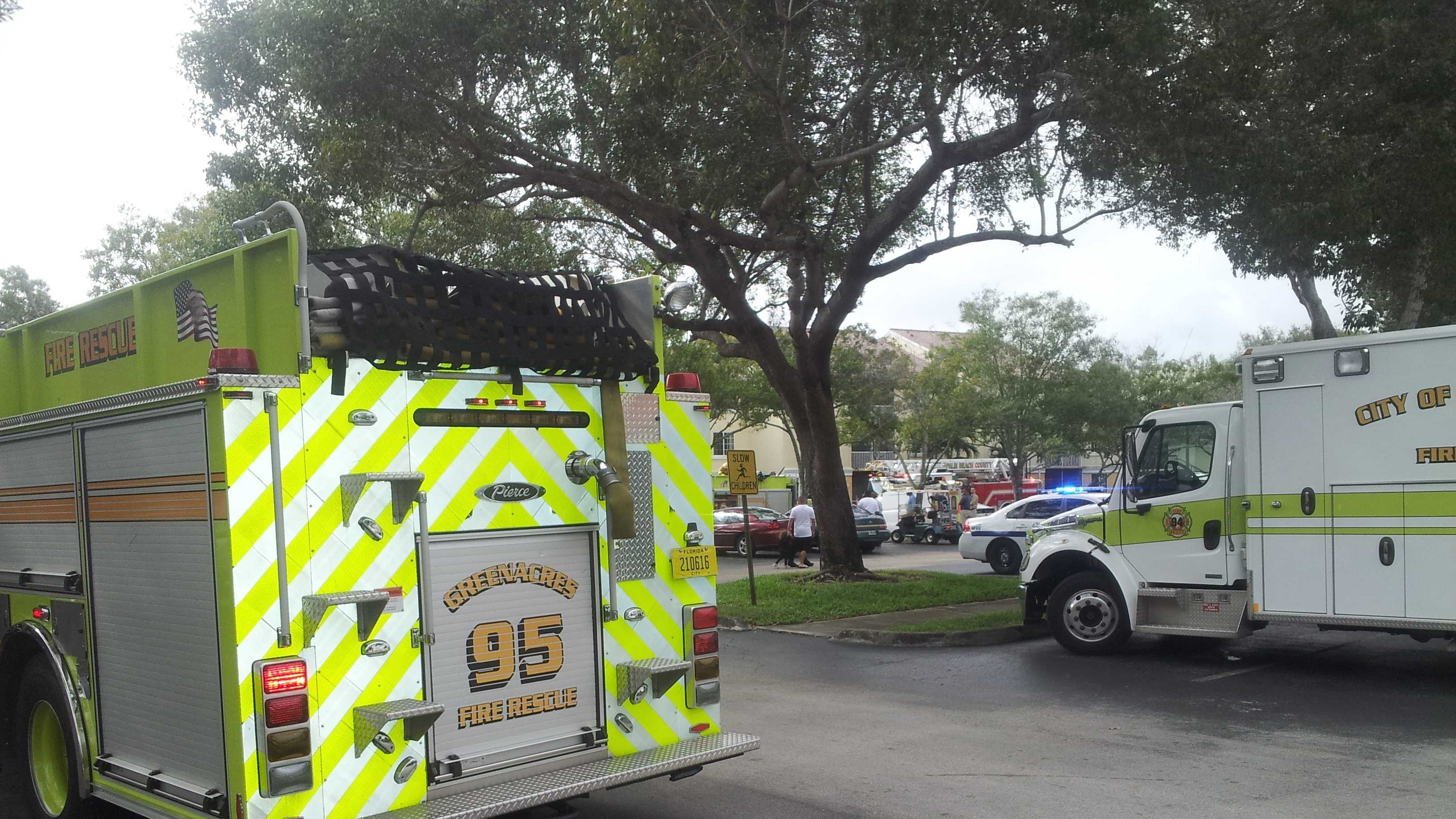 A fire at the Island Shores Apartments leaves a Greenacres family homeless.