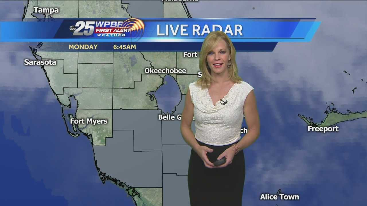 Meteorologist Sandra Shaw has a quick look at Monday morning's weather forecast.