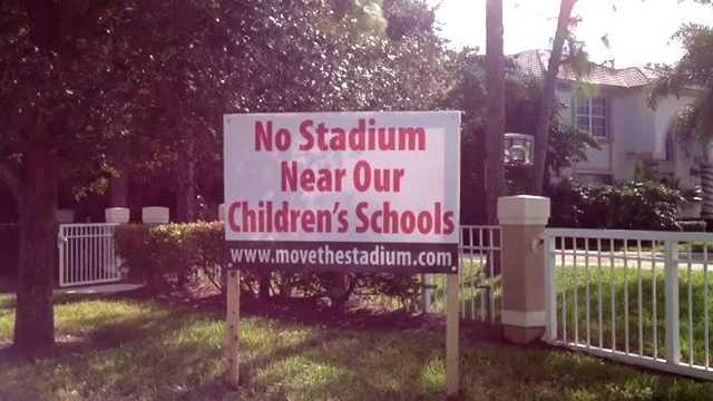 No stadium near our children's schools