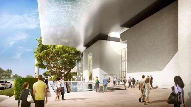 This is a rendering of what the retrofitted Norton Museum of Art will look like when the master plan is complete.