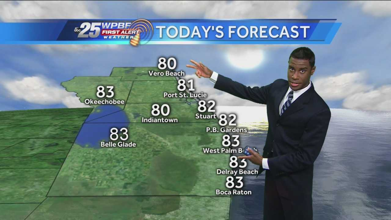 Justin says some morning showers will eventually give way to more pleasant daytime weather.