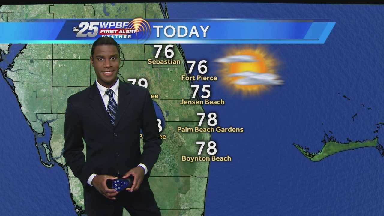 Justin says a chance of rain is certainly in the forecast for Friday with breezy conditions and highs in the 70s.