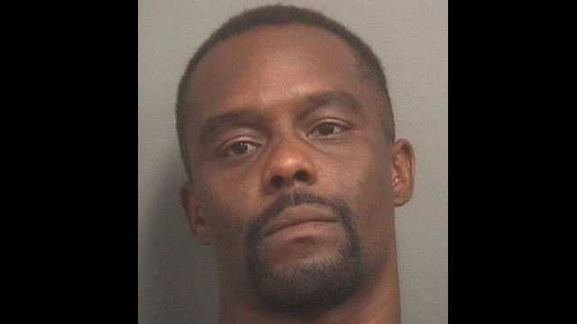 Bryan Jones is accused of using the same car in the robberies of a Palm Beach Gardens bank and a gas station.