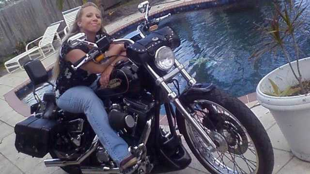 Donna Scarberry was killed when her Harley-Davidson motorcycle collided with a minivan in Port St. Lucie.