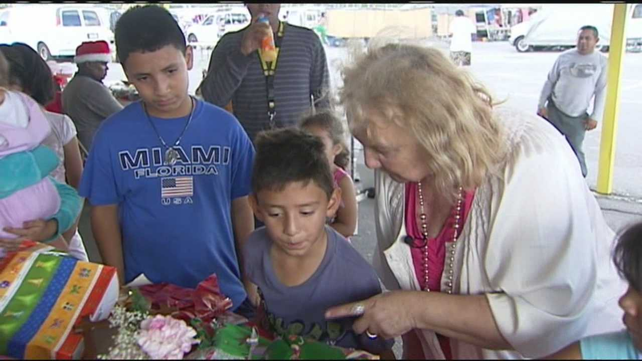 A Lake Worth Swap Shop merchant decides to do something to brighten Christmas for a group of children living on campus.