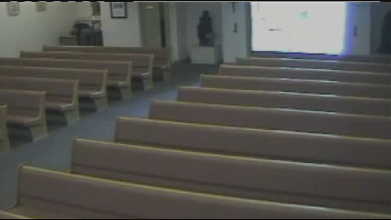 A man is caught on surveillance video stealing a Boca Raton church's donations just days before Christmas.