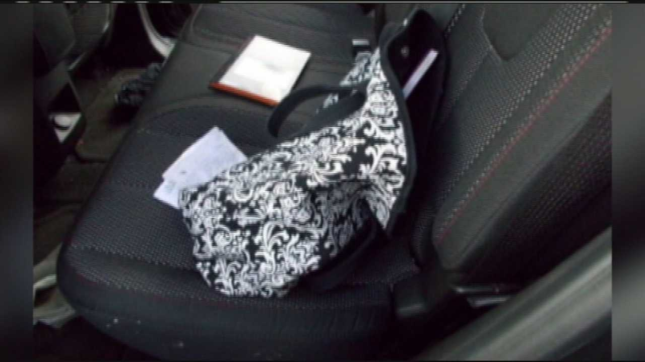 This stolen purse was found in the back seat of an SUV stopped in Martin County.