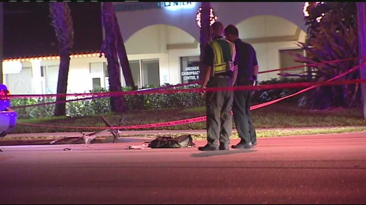 A bicyclist was taken to Delray Medical Center after being struck by a car in Wellington.