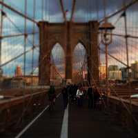 Walk across the Brooklyn Bridge.