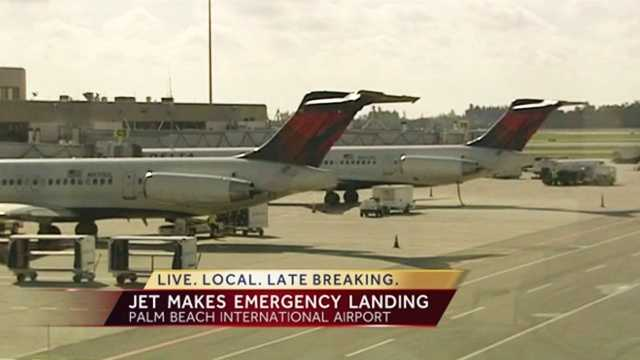A Delta jet en route to Atlanta had to make an emergency landing in West Palm Beach after an unknown issue Monday.