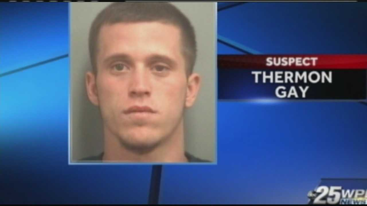 Thermon Gay was given a reduced bond because of a crime the man's father is accused of committing.