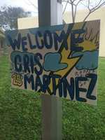 JAN. 8: Cris visited Verde Elementary School in Boca Raton.