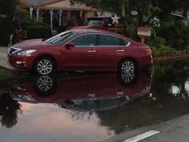 Stephanie Berzinski took some shots of flooded roads in Boynton Beach.