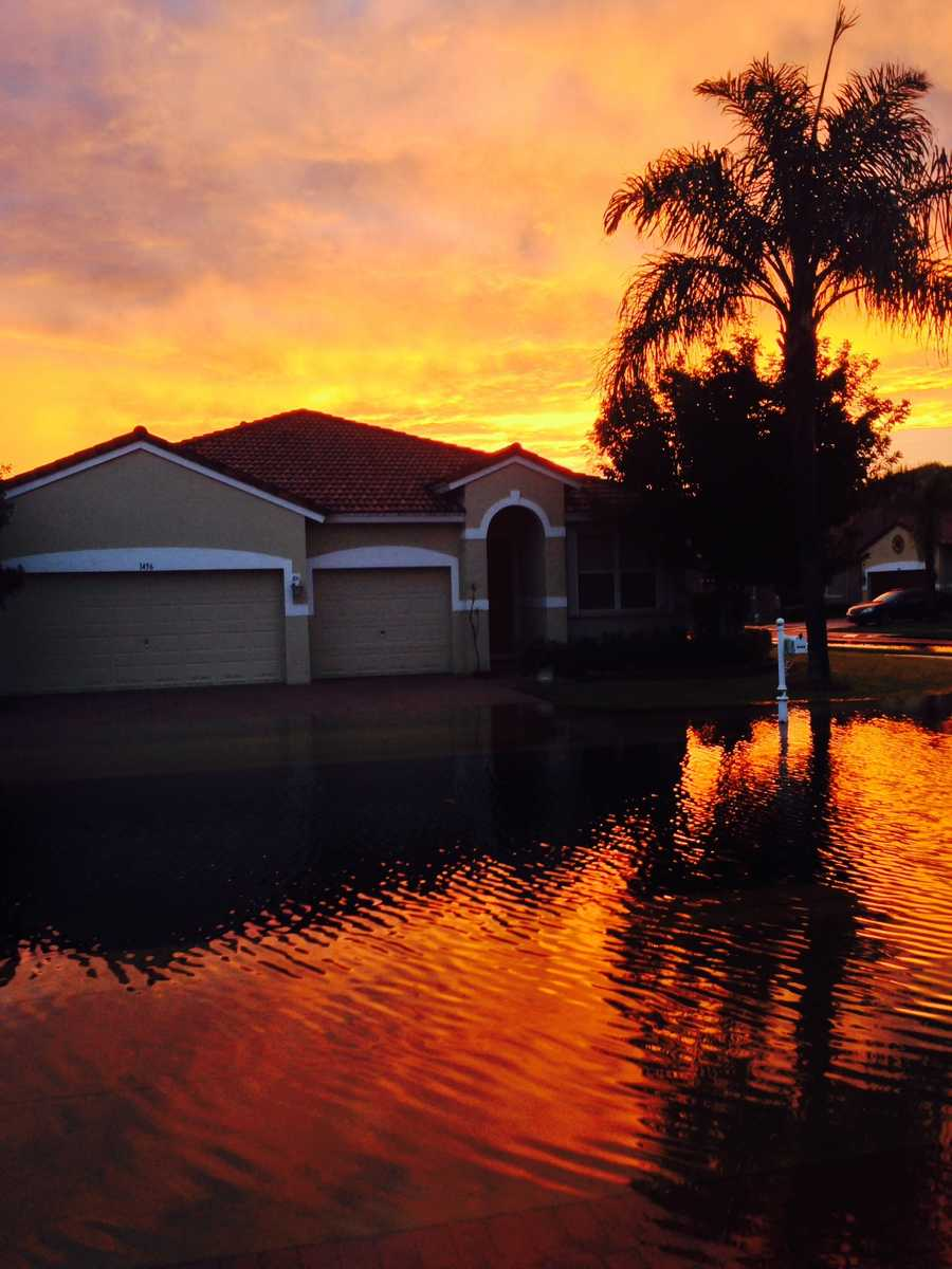 A viewer actually sent this in from Boynton Beach. Beautiful!