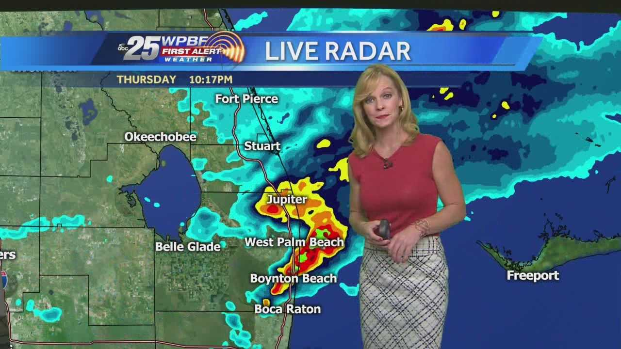 Sandra says the flash flood warning has been canceled but the areal flood watch is still in effect until 4 p.m. Friday.