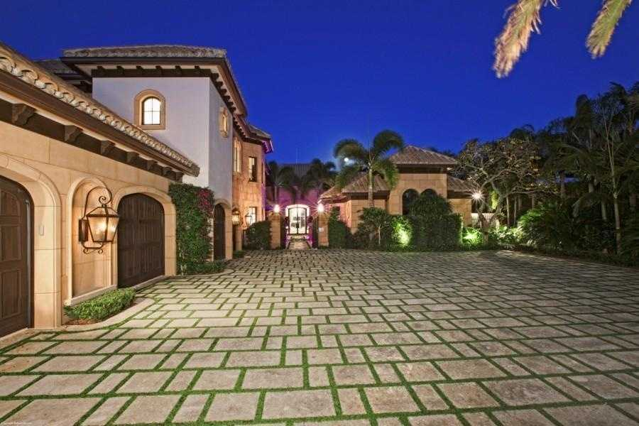 The home includes a five car garage.