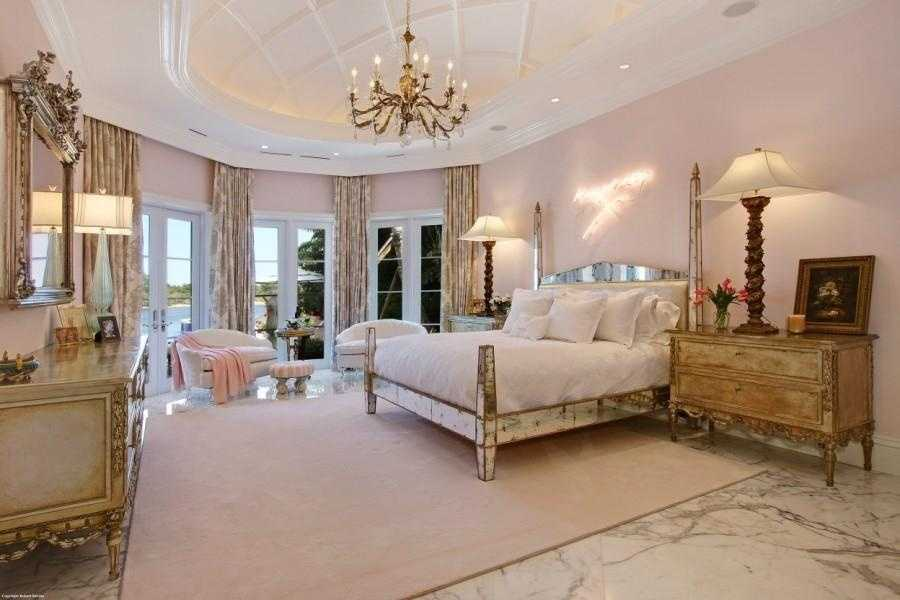 """The master bedroom feels like a """"powder pink palace""""."""