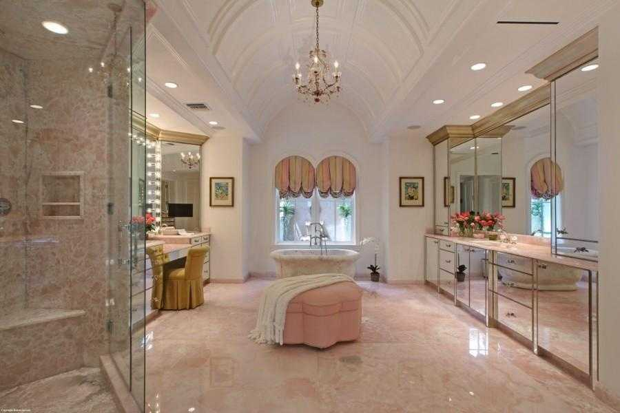 The master bathroom is an exquisite masterpiece all on its own.