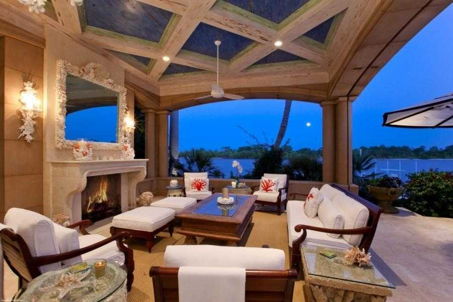 Complete with an outdoor fireplace.