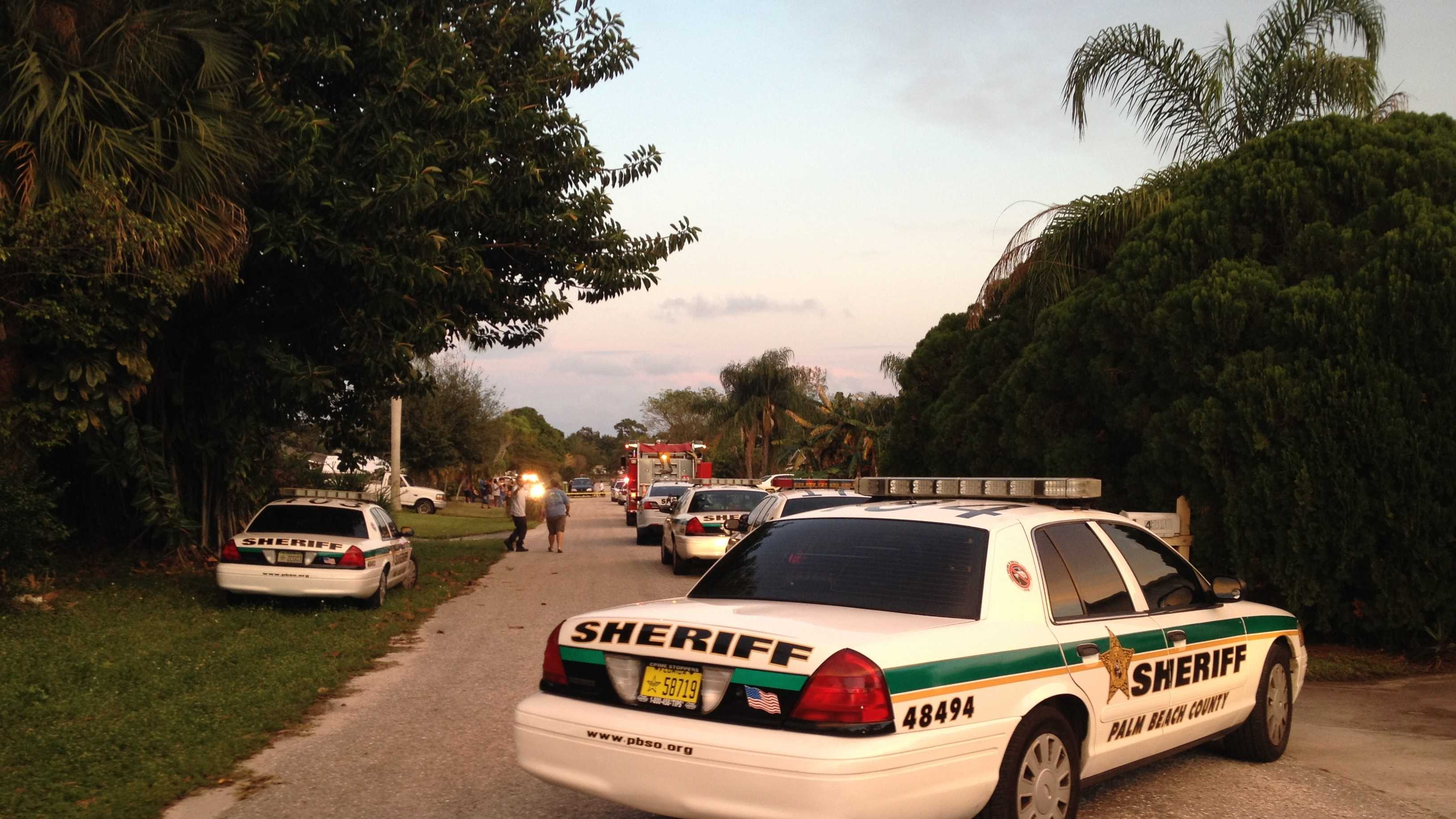 Detectives are investigating a domestic-related shooting in Lake Worth.