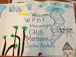 JAN. 15: Cris visited Jupiter Academy