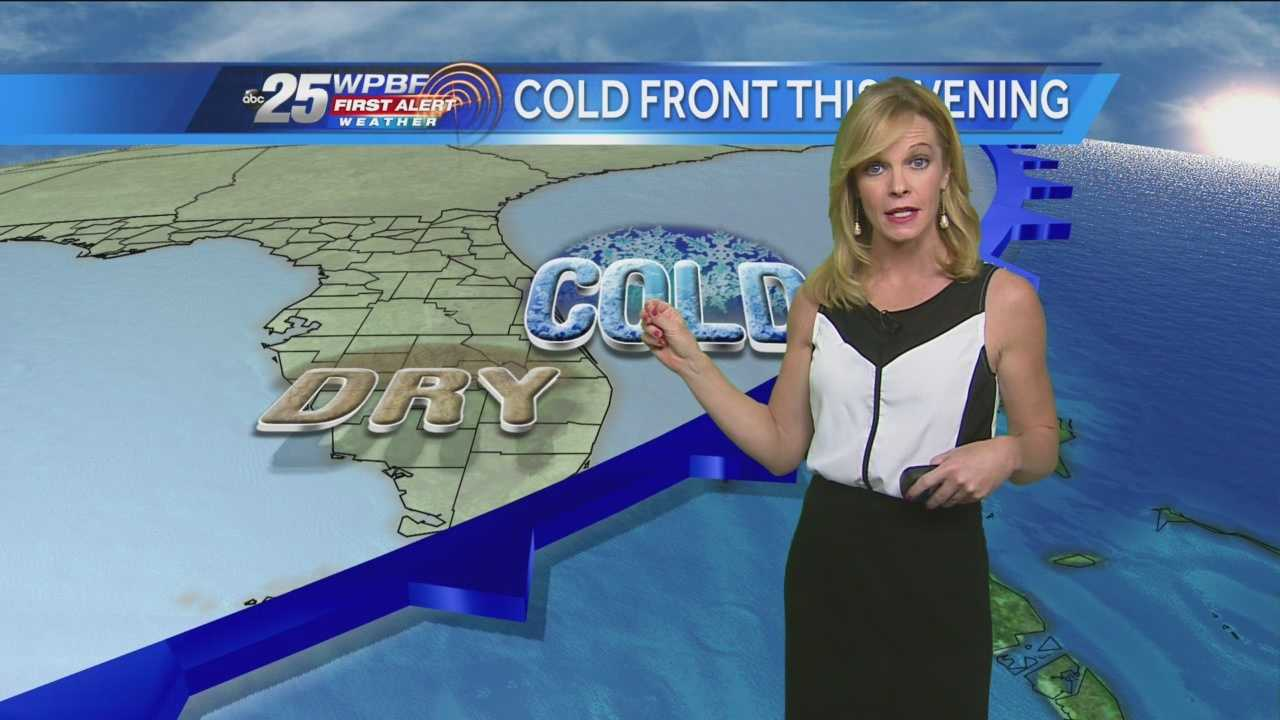 Sandra says another cold front will be coming to town Tuesday night.