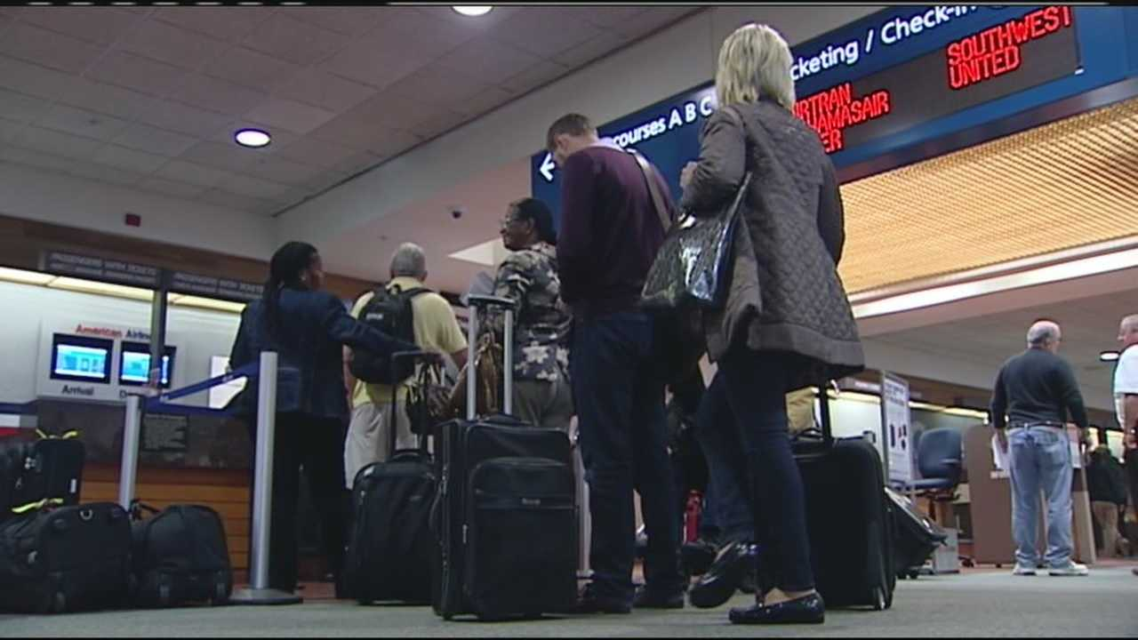 Many passengers with flights out of Palm Beach International Airport will be spending a few extra days in South Florida because of a winter storm causing flight cancellations.