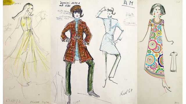 These are some of the early Karl Lagerfield sketches that sold for $545,165 at auction this month.
