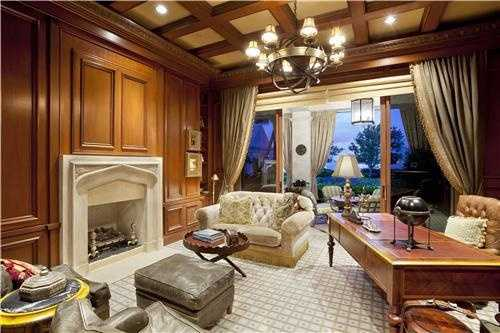The home also boasts an extremely sophisticated home office.