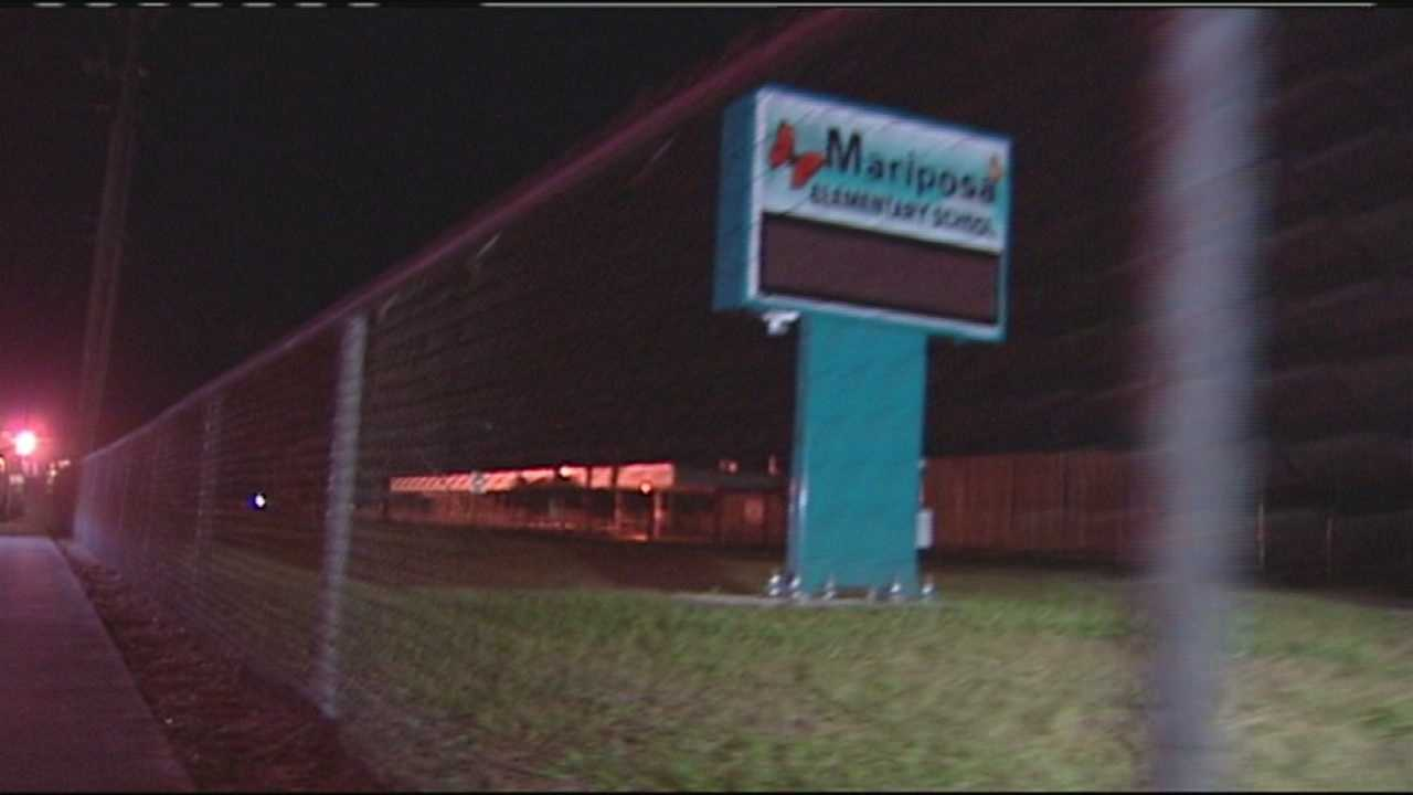 Police said four teenage boys and two young women were walking to the Mariposa Elementary School playground late Saturday night when a man approached them with a gun.