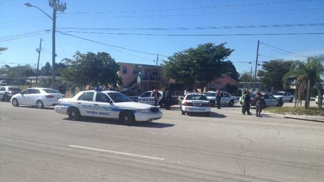 Police are investigating a shootout that started in Riviera Beach and continued into West Palm Beach.