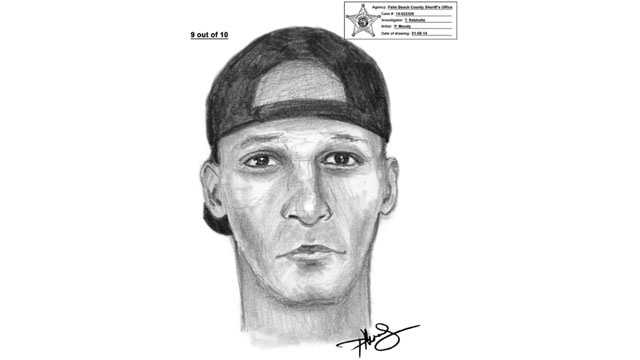 This is the sketch of a robber who is believed to be targeting elderly victims at the Delray Marketplace.