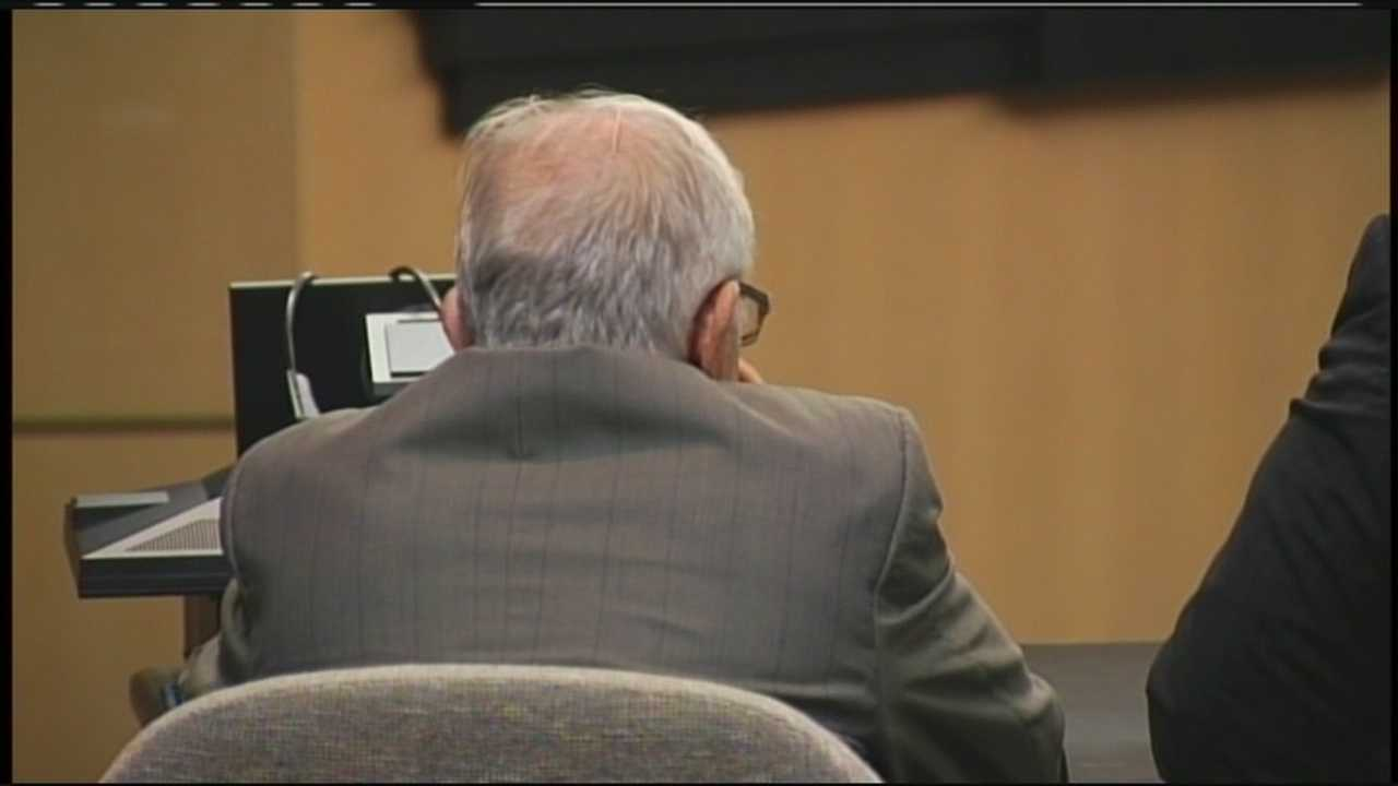 Testimony begins in the contempt of court trial for Dennis DeMartin, whose drinking experiment as a juror in the DUI manslaughter trial of polo mogul John Goodman led to a new trial.