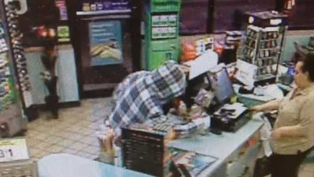 Police say this man got away with $50 during a robbery at a Cumberland Farms in Port St. Lucie.