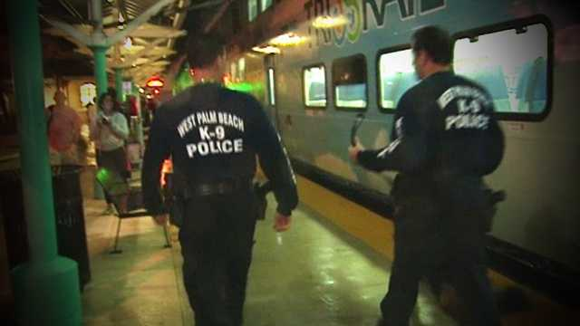 West Palm Beach police evacuated a Tri Rail train Thursday night after someone called and claimed there was a bomb on it.