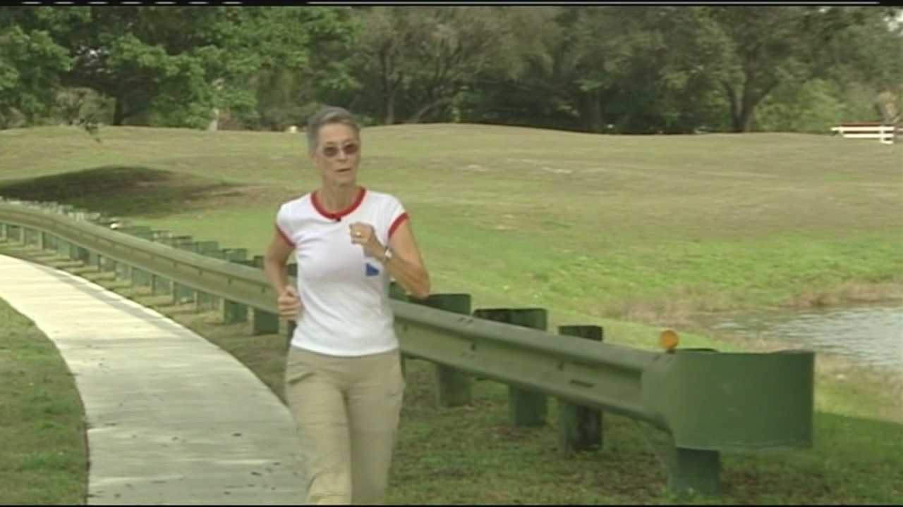 Kathe Thompson is preparing to walk from Los Angeles to Washington, D.C., to raise awareness about global warming.