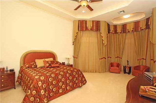 Spacious master suite.