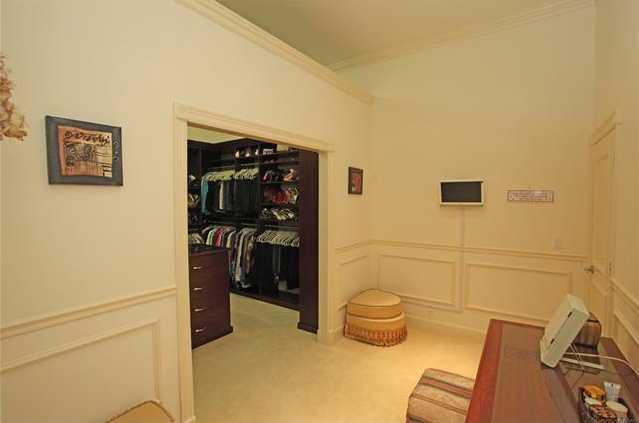 Dreamy walk-in closet.
