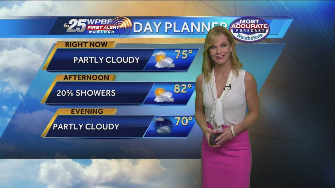 Sandra says to expect higher-than-average temperatures Tuesday with a chance of showers spread throughout the day.