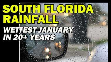 The National Weather Service said last month was the wettest January since 1993 and the fourth-wettest January on record in South Florida. Take a look to see where rain fell the most among the area's reporting stations, according to the South Florida Water Management District's website.