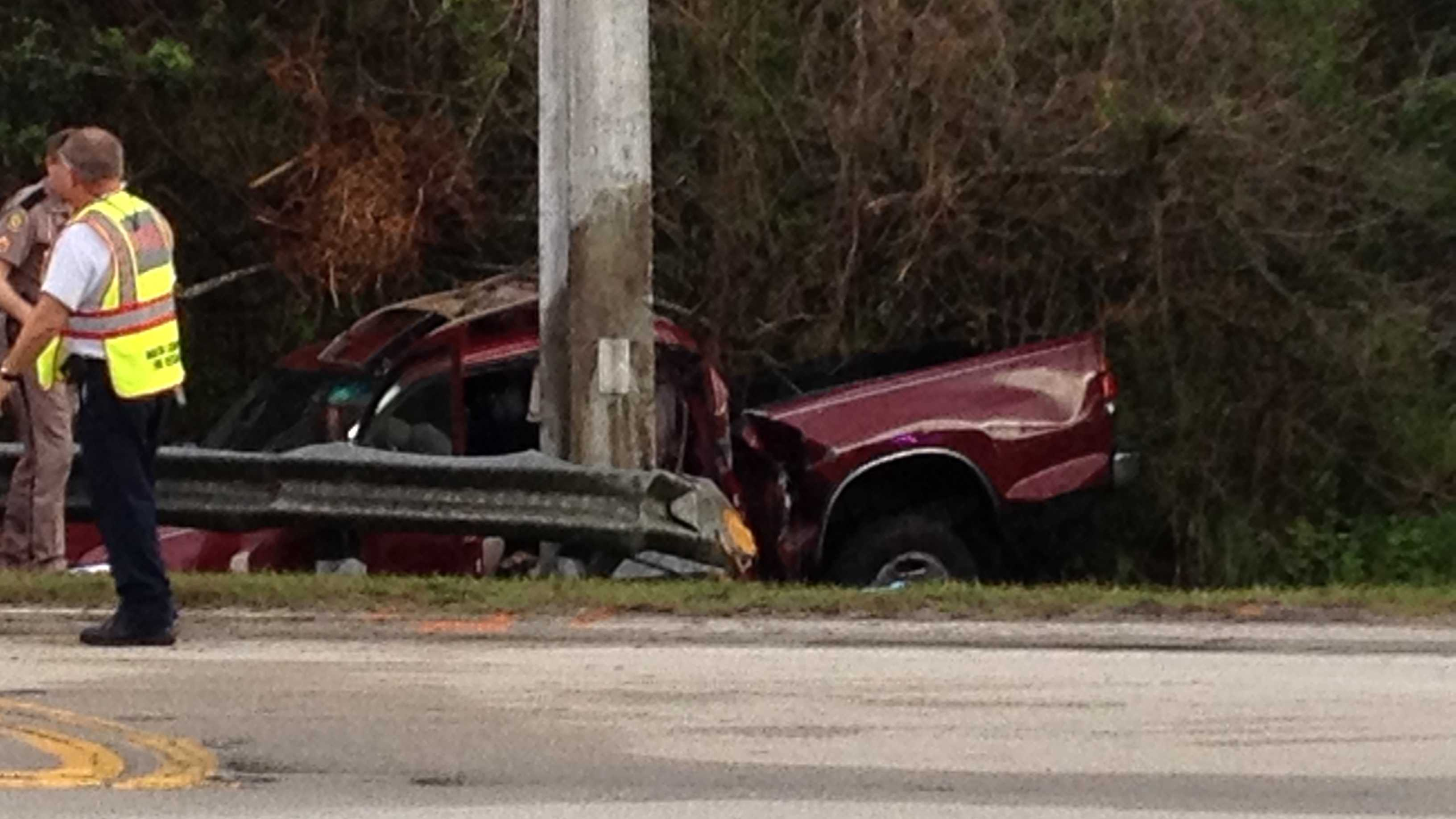 A 15-year-old girl was killed in this crash outside Crystal Lake Elementary School.